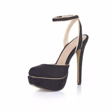 New Women Super High Heels Zapatos De Mujer Platform Flock Round Toe Woman Sexy Dress Wedding Party Shoes Woman Sandals Pumps стоимость