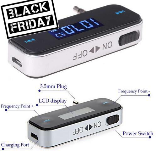 3,5mm Drahtlose Mini Sender In Auto Kit Musik Audio Fm Transmitter Für Iphone 4 5 6 6 S Plus Samsung Ipad Mp3 Freisprecheinrichtung