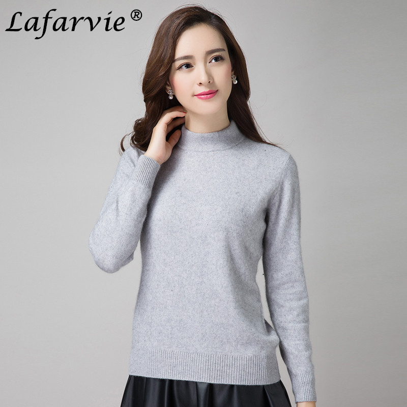 Lafarvie New High Quality Fashion Autumn Winter Cashmere Sweater Women Wool Pullovers Long Sleeve Plus Size Clothing