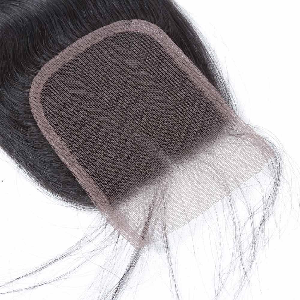 Uneed Remy haarbundels met sluiting 3/4 bundels Braziliaanse body - Mensenhaar (voor zwart) - Foto 5