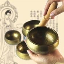 1pcs Nepalese Indian unicorn handmade Buddha statue Tibetan bowl ceremony music therapy copper material Tibetan singing bowl