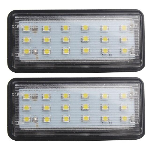 Для Toyota Land Cruiser Prado Reiz Mark X 2 шт. Номерного знака лампы LED Автомобилей Номерного Знака Для Lexus LX470 LX570 Супер яркий