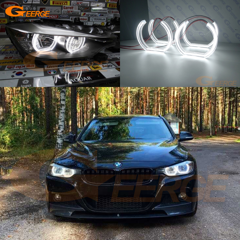 For BMW 3 Series F30 F31 F34 2012 2013 2014 2015 2016 halogen headlight Excellent DTM Style Ultra bright led Angel Eyes kit dtm 612 page 3