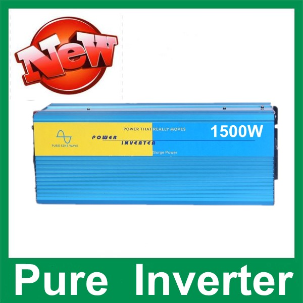 1500W Power Inverter Pure Sine Wave 12V DC to 220V AC Car Converter inverters Adapter inverter poipoi sine parakore dc12v to ac220v pure sine wave power inverter 1500w dc to ac home use power inverter dc to ac car power inverter