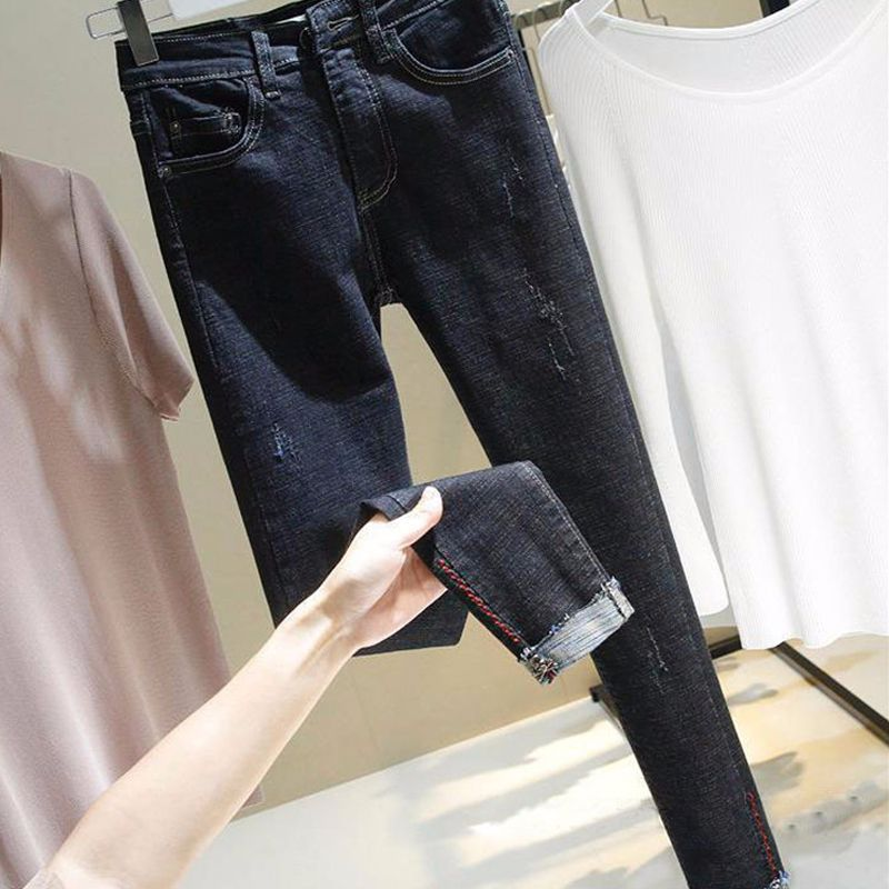 Skinny   Jeans   for Woman 2018 Autumn High Quality Fashion Slim   Jeans   Casual High Waist Stretch Pencil Denim Pants Plus Size