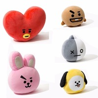 Kpop Home Bangtan Boys BTS Bt21 Vapp Pillow Warm Bolster Q Back Cushion Plush Doll TATA