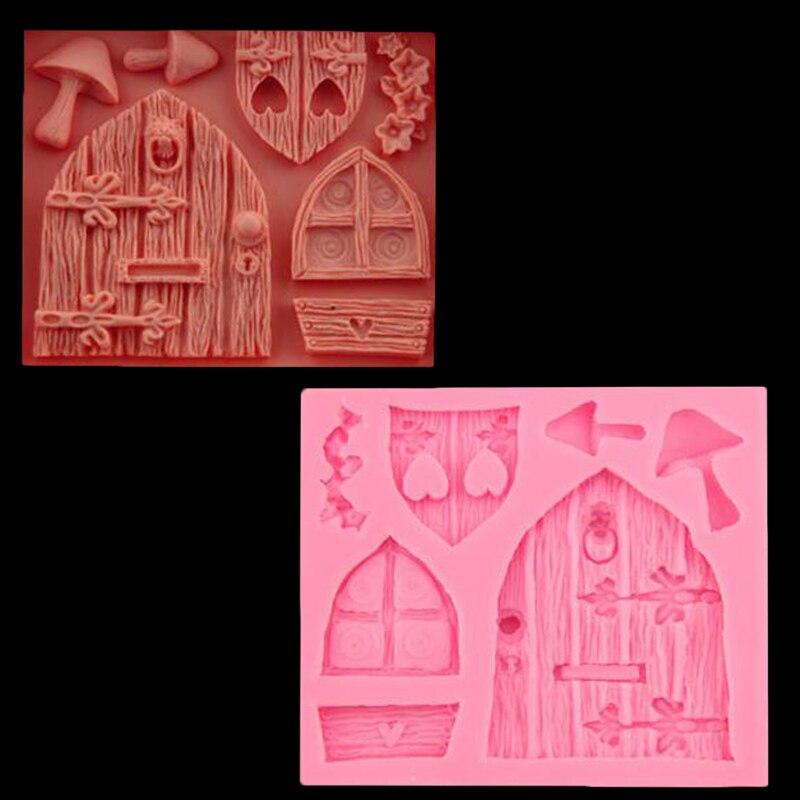 3d Dibujos Animados Casa De Madera Ventana Y Ventana Forma Molde
