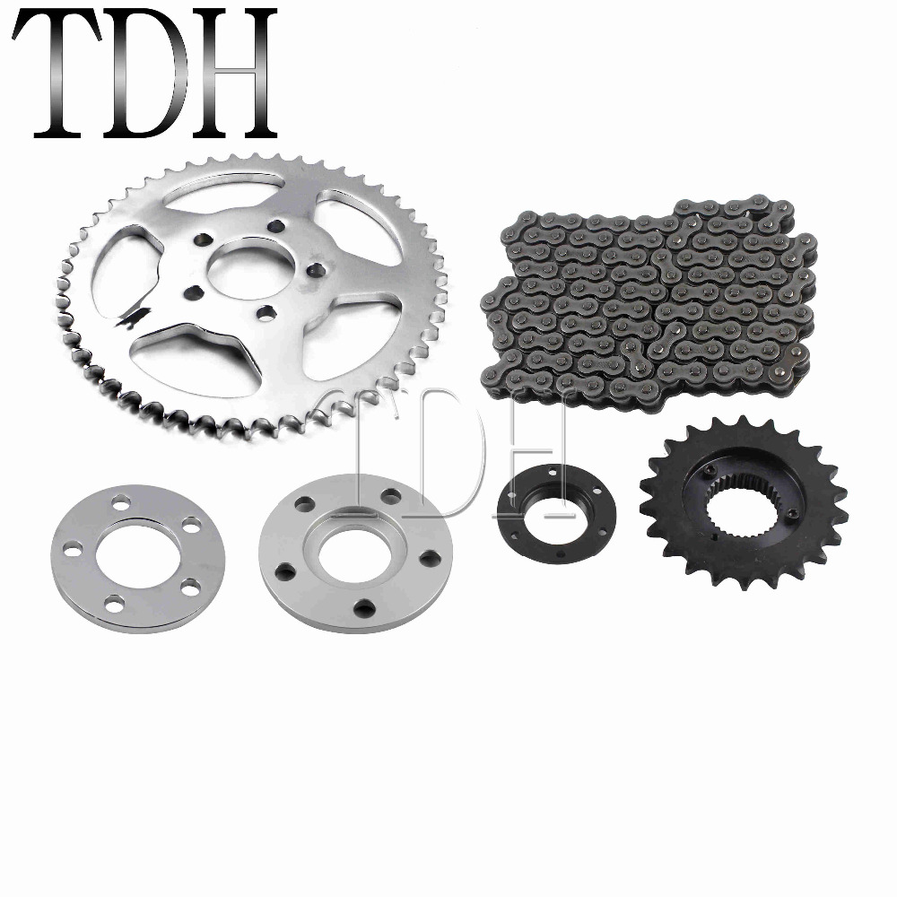 Motorcycle Rear Chain Conversion Kit Driver Chain Belt Sprocket Set for Harley Sportster XL 883 1200