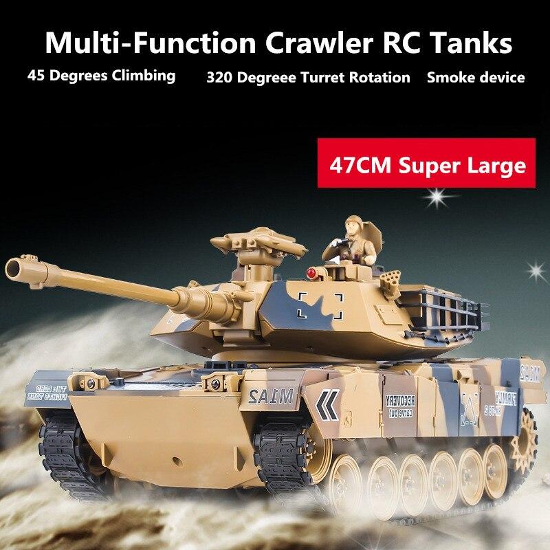 Amérique M1A2 russie T90 réservoir télécommandé 1:16 2.4G voiture blindée RC réservoir de bataille BB balle/fumée/son modèle de véhicule électronique