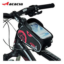 ACACIA Bicycle Touch Screen Tube Bag Front Frame Bag 5.5 Inch 4.8 Inch Mobile Cell Phones Saddle Bag Sport Bike Cycling Bag