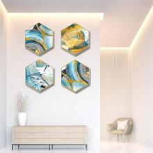Creative gold foil abstract wall painting living room background corridor mural Hotel decorative