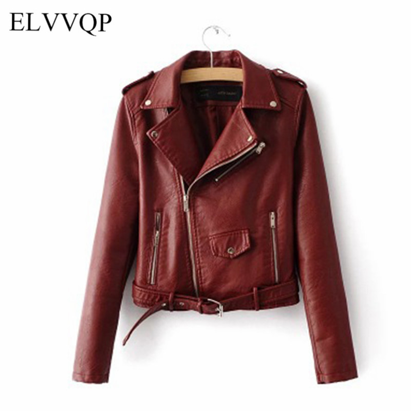 Slim Spring Jacket Women Plus Size Motocycle Windbreaker Female Chaqueta Mujer Cuero Negra 2018 Short PU Leather Jacket NW544