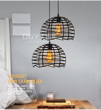 Retro Brief Retro American Country Inudstrial Loft Iron Mesh Pendant Lamp Clothing  Dinning Room Home Decor Lighting Fixture