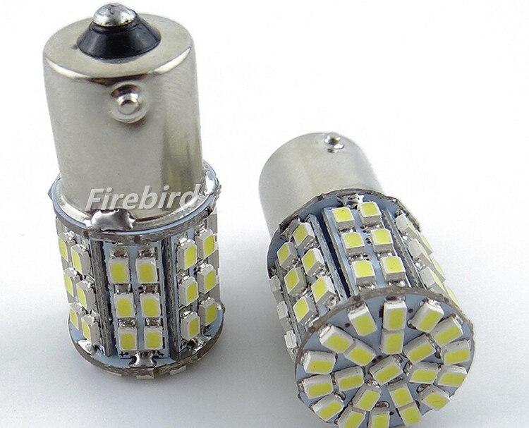 2 x 1156/BA15S 64SMD 4.5W power cold white led reverse brake rear signal day lights lamp for DC12V car moto