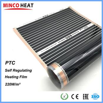 Nowy podczerwieni niskie zużycie energii oszczędność energii PTC samoregulująca podłoga ciepła folia grzewcza 220W tanie i dobre opinie MINCO HEAT HF-2205PTC Z włókna szklanego Miedzi Ogrzewanie Izolowane Stałe PTC self regulating heating film 220W m2 50cm