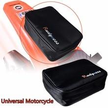 Bolsa de herramientas para guardabarros trasero, color negro, para ATV KTM CRF Dirt para moto de Enduro y guardabarros Universal para motocicleta