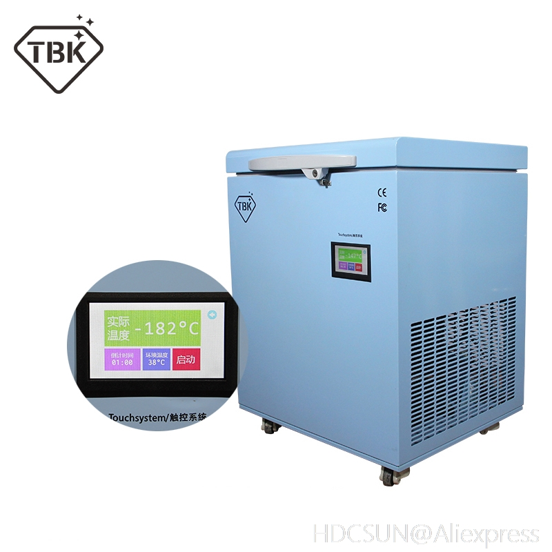 TBK 598 Professional Mass 180C LCD Touch Screen Freezing Separating Machine LCD Panel Frozen Separator Machine for edge