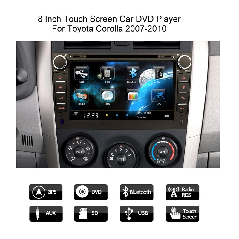 8 inch car dvd for toyota corolla 1