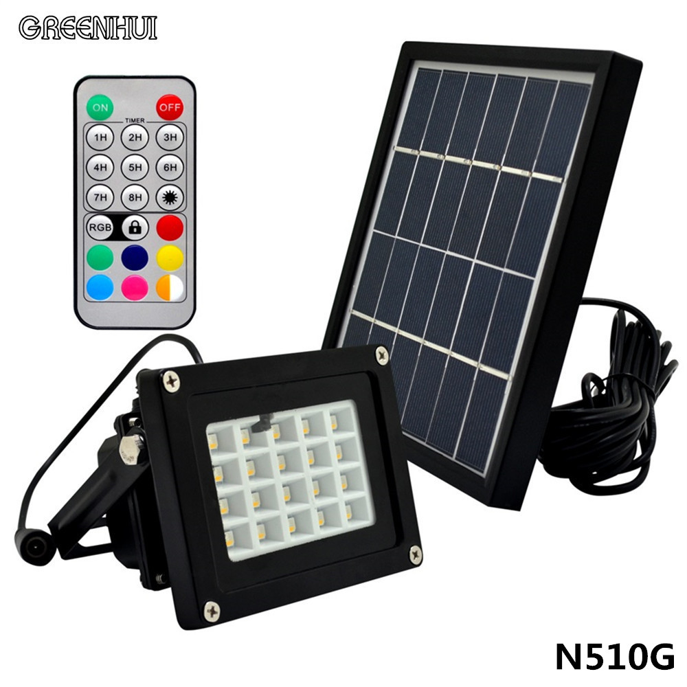 Outdoor Solar Powered LED Flood Light 3W With 5M Wire+2200mA Battery For Garden Solar Floodlights Spotlight Lamps Waterproof 64led 5m wire li ion battery auto sensor control solar led lamps led outdoor lighting solar lights for garden decoration