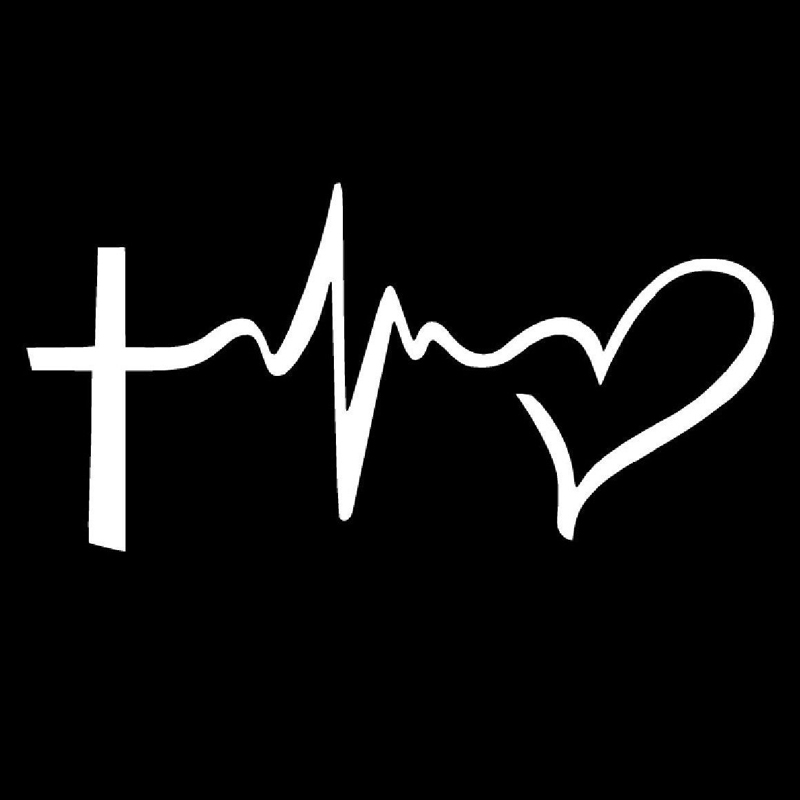 FAITH HOPE LOVE Vinyl Decal Sticker Car Window Wall Bumper Symbol Heart Cross 6/""
