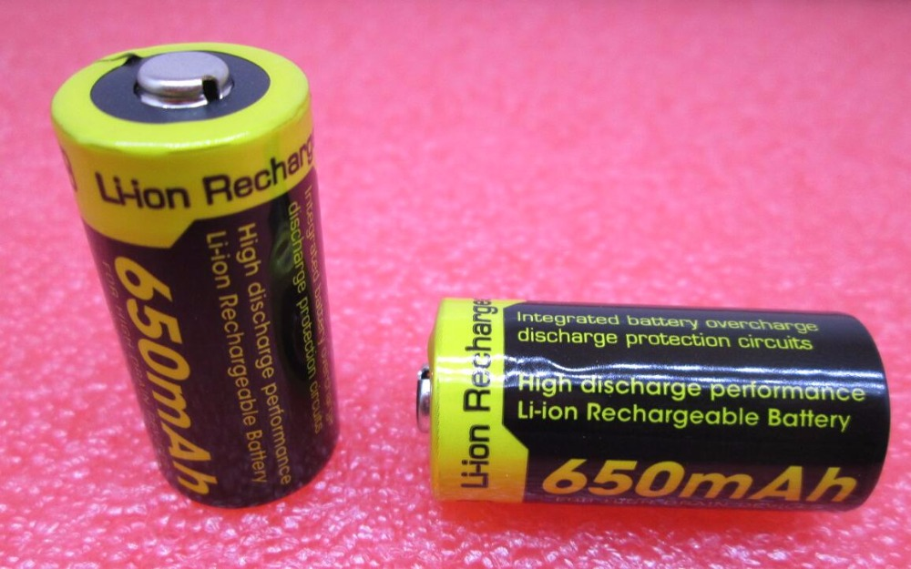 NEW NITECORE lithium battery 3.7V NL166 / RCR123A RCR123 CR123 CR123A 123 16340 650mah rechargeable Li ion batteries