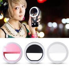 selife LED flash Clip on Selfie Ring Light 36 LED Night Ring Camera Fill Light Selfie for iPhone Samsung Sony huawei xiaomi LG
