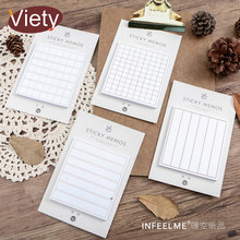 Stripe student write memo pad planner sticky note paper sticker kawaii stationery pepalaria office school supplies 30 pages(China)