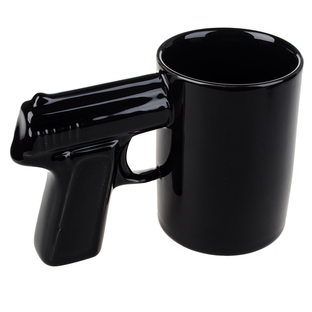 Keepcup 12 Oz Brew Bandit Glass T Coffee Cup Milk Medium 340ml 12oz Online Shop Free Shipping 1piece Pistol Grip Cups And Mugs Funny Gun Mug Tea Creative Office Ceramic Drinkware Aliexpress