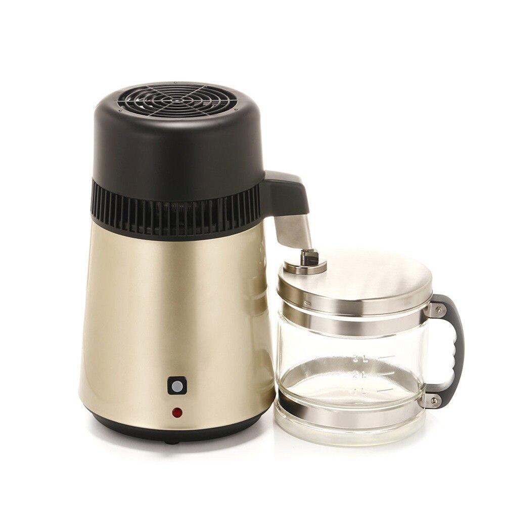 4L Distillateur D'eau 304 Acier Inoxydable Purificateur Filtre Avec Bocal En Verre UK Plug