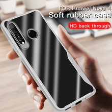TPU Soft Bumper Case On The For Huawei nove 3 4 3i 4i 4e Shockproof Cover Silicone Glass Phone
