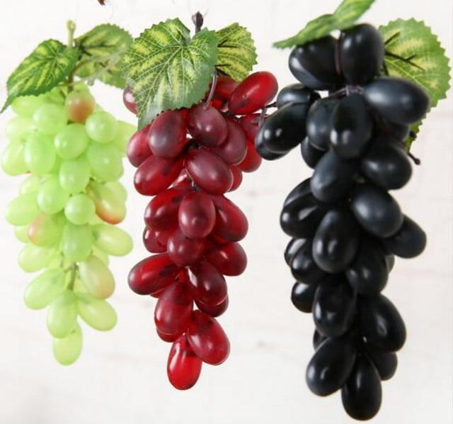 22 85pcs Grapes Bunch Lifelike Artificial Grapes Plastic Fake Decorative  Fruit Food Home Decor MB1607