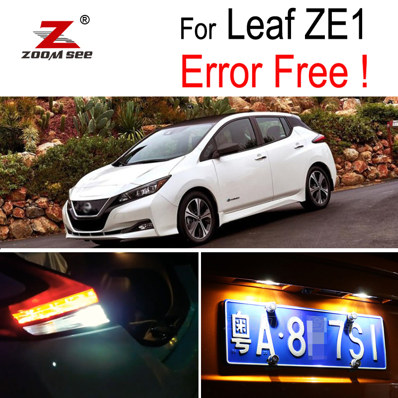 11x Blue Interior License Plate LED Light Package Kit Fit 2018 Nissan Maxima