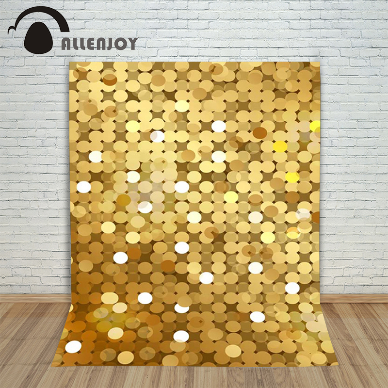 Photography background Gold glittering dots celebration baby newborn space computer printed Allenjoy backdrops allenjoy backdrops baby shower background pink stripe rose gold circle birthday invitation celebration party customize