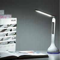 Led Schreibtisch Lampe Tisch Licht Faltbare Dimmbare mit Kalender Temperatur Wecker Atmosphäre Farben Ändern Buch Licht-in Schreibtischlampen aus Licht & Beleuchtung bei