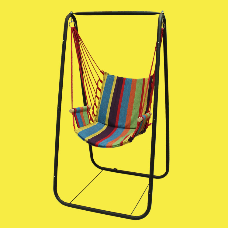 Image 4 - Boutique Beach Hammocks Garden Camping Travel Swing Outdoor Furniture Hanging Chair for Xmas Gift Cotton with Sponge-in Hammocks from Furniture