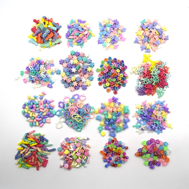50PCS AB Color Starfish Acrylic Beads For Necklace Jewelry Making Mixed Color