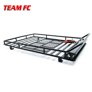Image 4 - Metal Roof Rack Luggage Carrier with 36 LED Spotlight bar For 1/10 RC Car Trx4 RC4WD Cherokee Wrangler Axial Scx10 S38