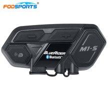 Fodsports M1-S Helmet Headset Motorbike intercom Bluetooth 4.1 2000 Meters support 4 riders Speak simultaneously waterproof