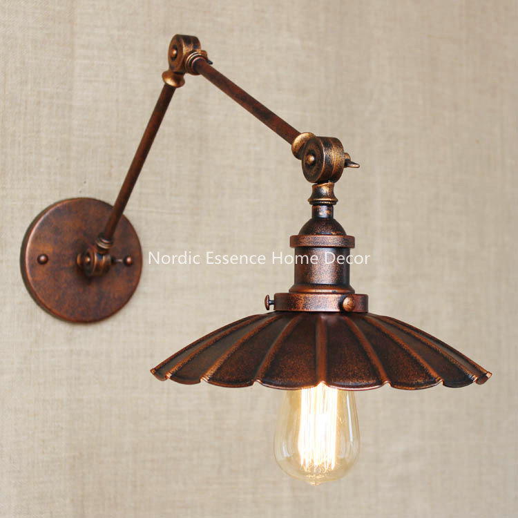Retro industrial creativity innovation do the old-fashioned retro nostalgia rusty small <font><b>umbrella</b></font> decorative wall sconce lamp