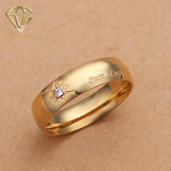 """2017 New Fashion Gold Color Inlaid Crystal and Letters """"Pure Love"""