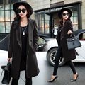 New Women Casual Basic Autumn Winter Woolen Cloth Coat Blend Top blusas Open Stitch Cloak Loose Full Sleeve Plus Size