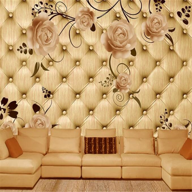European Custom Photo Wallpapers For Walls 3D Modern Bedroom Wall Papers Home Decor Flowers Murals for Living Room Luxury Leaf circle mirror photo wallpapers 3d modern abstract murals wall papers home decor wallpapers for living room wall paste wall mural