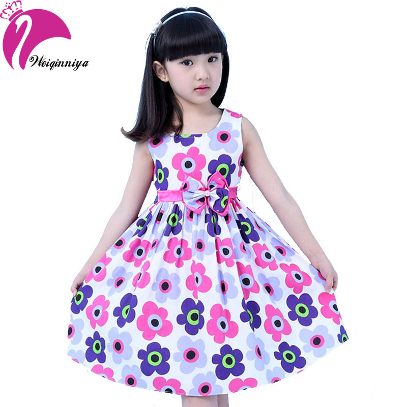 New Design Summer 2017 Girl Dress Cotton Sleeveless Pastorale Flower Kid Sundress Party Birthday Girls Clothes Vestido Infantil girl dress 2 7y baby girl clothes summer cotton flower tutu princess kids dresses for girls vestido infantil kid clothes