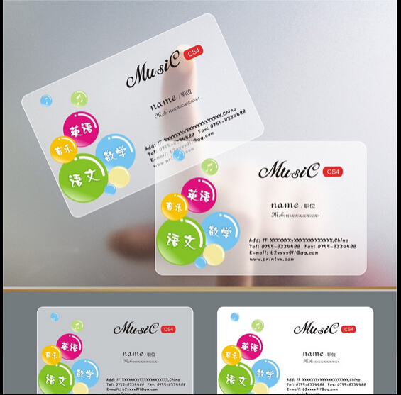Custom full color visit card pvc business card clear frosted custom full color visit card pvc business card clear frosted transparent plastic post card printing rounded corners in business cards from office school reheart Choice Image