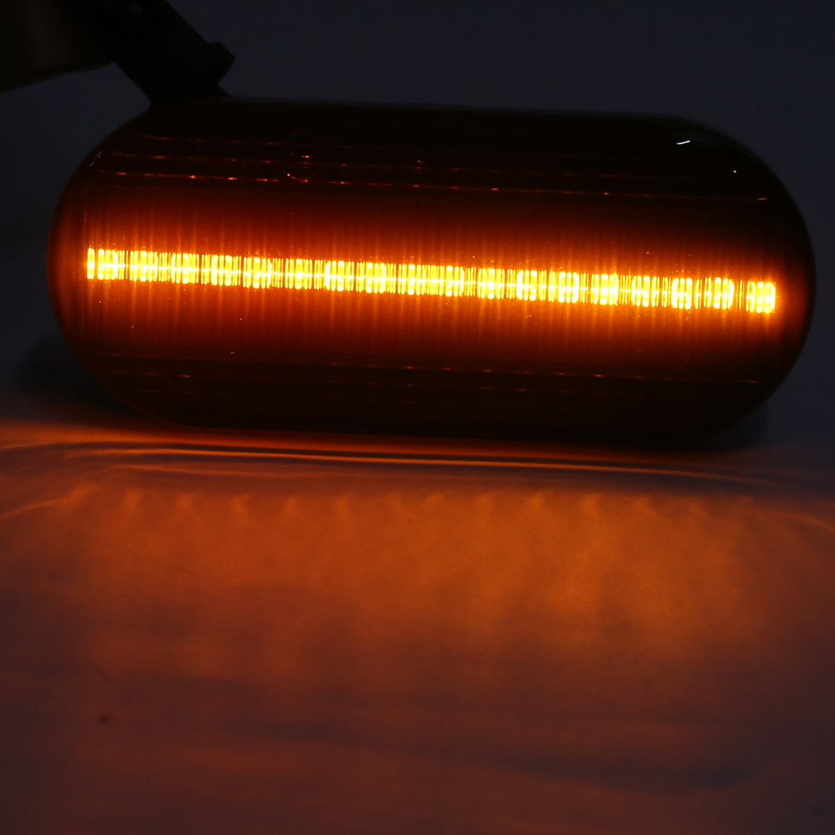 Mayitr 2pcs Dynamic LED Side Marker Indicator Light Amber Smoke LED Sequential Blinker Light For Ford C-Max
