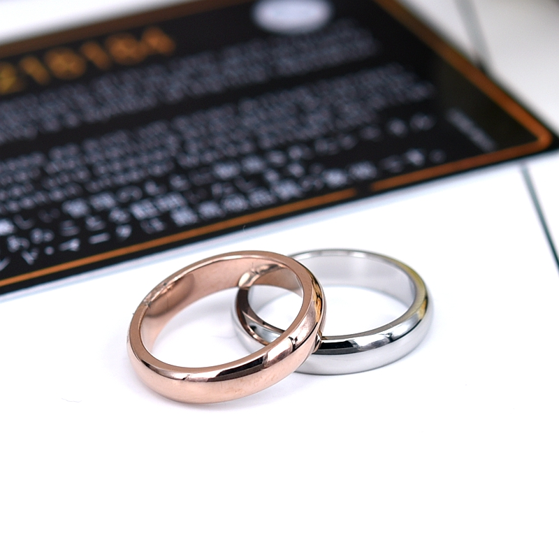 YUN RUO Rose Gold Silver Colors High Polished Couple Rings for Woman Man Jewelry 316 L Stainless Steel Never Fade Size 4-12