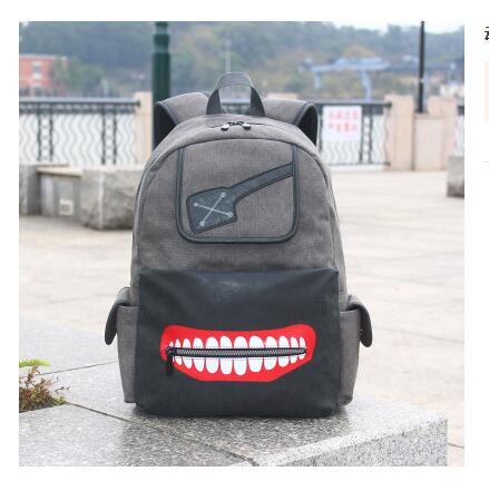 Japanese style  Anime tokyo ghoul School Travel Laptop Bag for Teenagers   Canvas Backpack