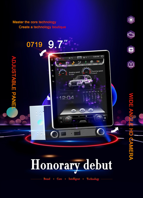 US $383 94 21% OFF|Aliexpress com : Buy High configuration Rockchip PX6  Android 8 1 Car GPS 9 7INCH UNIVERSAL 90° rotation Tesla style Radio  bluetooth
