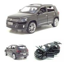 1:32 Tiguan araba modeli alaşım araba kalıp döküm oyuncak araba modeli geri çekme çocuk oyuncak hediyeler koleksiyon ücretsiz kargo