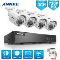 ANNKE 1080N 4CH 720P Home Security HD DVR 4PCS 1 0MP 1200TVL AHD CCTV Camera System